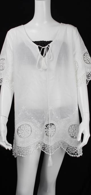 Alice&Lily embroidered lace caftan white Style: AL/CAF4310