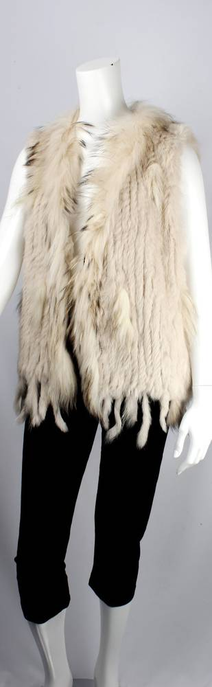 Alice & Lily fur vest cream STYLE: SC/4374CRM NEW SHIPMENT ARRIVING LATE MAY ORDER NOW