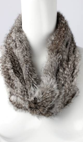 Alice & Lily fur snood grey STYLE: SC/4375GRY- NEW SHIPMENT ARRIVING LATE MAY ORDER NOW