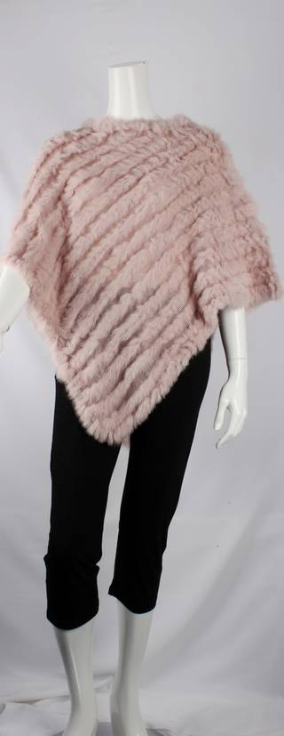 Alice & Lily fur poncho plain blush STYLE: SC/4254 BLUSH- SOLD OUT