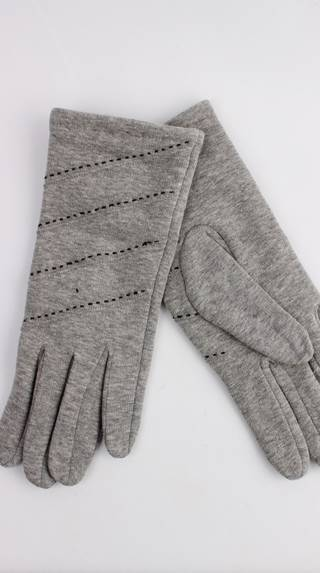 Thermal glove w contrast stitching grey Style; S/LK4389
