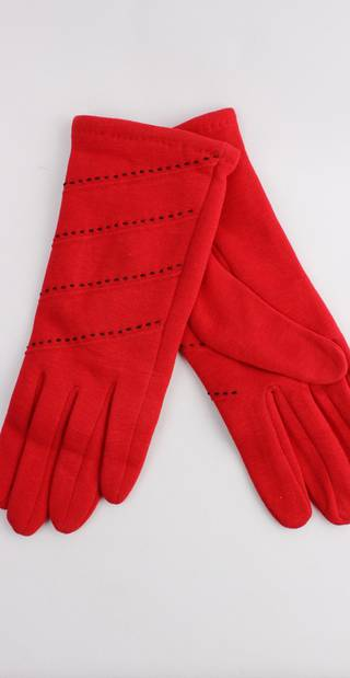 Thermal glove w contrast stitching red Style; S/LK4389