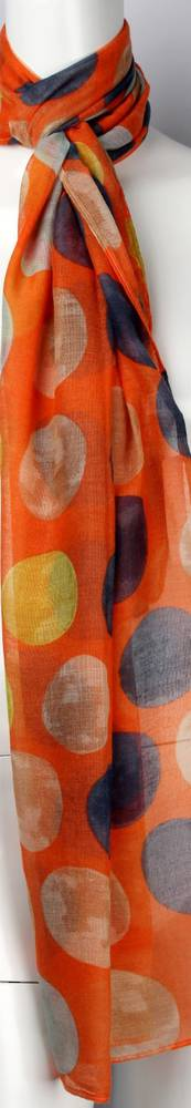 Printed  scarf orange Style:SC/4460/ORA