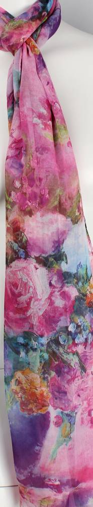 Alice & Lily printed  scarf pink Style:SC/4565/PNK
