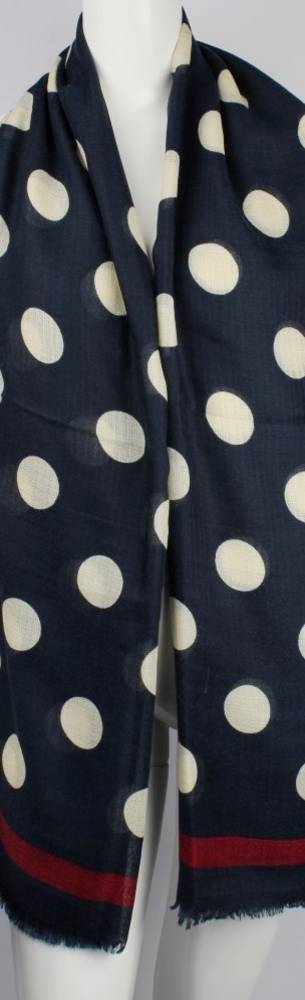 Alice & Lily printed viscose autunm/winter weight scarf navy w cream dot Style:SC/4592