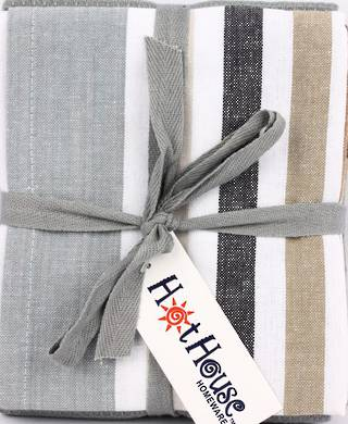 THREE PACK-Tea towel 'Atlanta' silver Code: T/T-ATL/3PK/SIL
