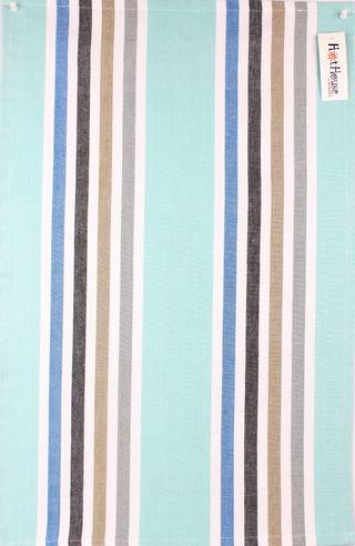 Tea towel 'Atlanta stripe' aqua Code: T/T- ATL/STR/AQU