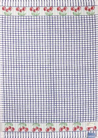 Samuel Lamont poli dri blue cherry  tea towel Code:TT-706JCHERRY.