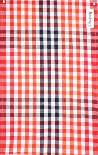Tea towel 'Atlanta check' red Code: T/T- ATL/CHK/RED