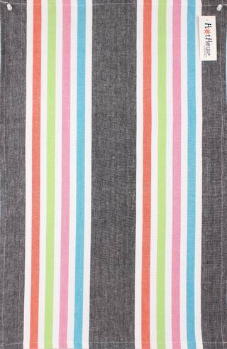 Tea towel 'Atlanta stripe' multi Code: T/T- ATL/STR/MUL