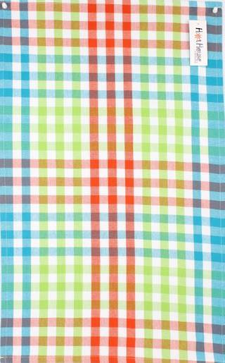 Tea towel 'Atlanta check' multi Code: T/T- ATL/CHK/MUL
