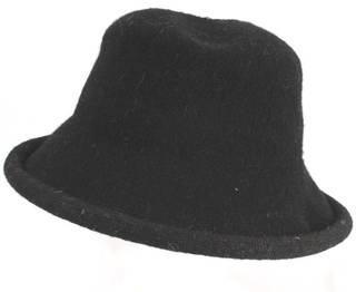 Wool roll up dome hat black Style: HS/9093BLK