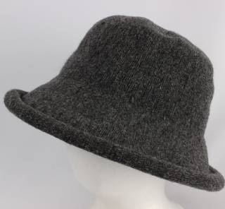 Wool roll up dome hat grey Style: HS/9093GRY