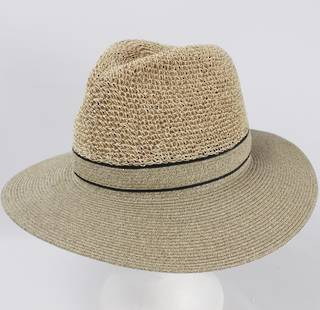 Crocheted crown fedora linen Style: HS/9119