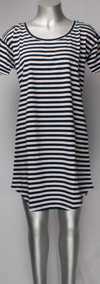 Striped dress/nightie navy/white Style; AL/ND-110