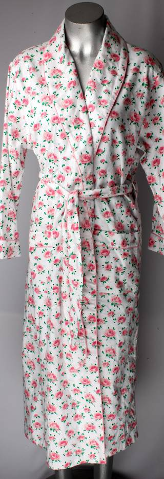 Brushed cotton winter robe pink floral Style; AL/ND-182