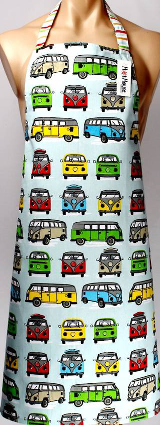Campervan apron 'let's go wild and explore the world' Copy: APR-CAM