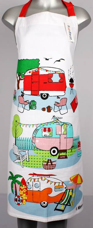 Retro Caravans large apron Code: APR-RET/L DELIVERY JUNE