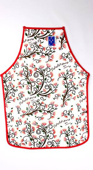 Apron Pohutukawa small adult.  Code: APR-POH/S