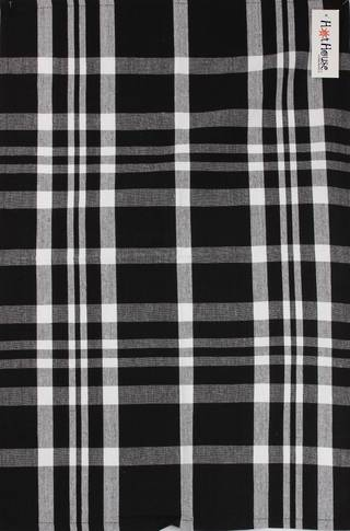 Tea towel 'Newport check' blk Code: T/T- NEW/CHK/BLK
