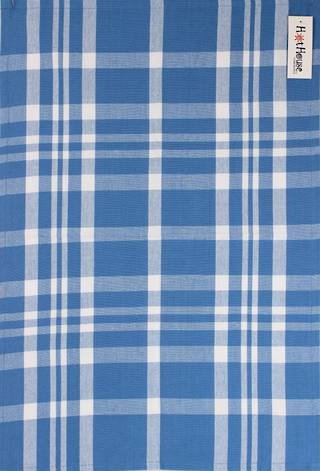 Tea towel 'Newport check' blue Code: T/T- NEW/CHK/BLU