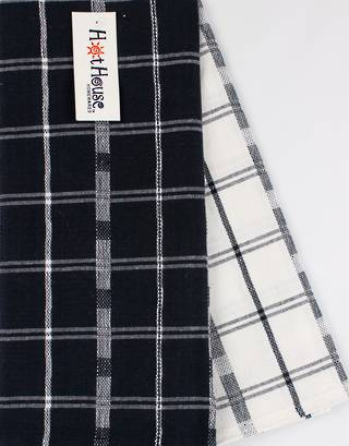 SPECIAL OFFER  2pack tea towel set 'crossroads' navy CODE: T/T-CROSS/2PK/NAV  half price if you buy 24 packs