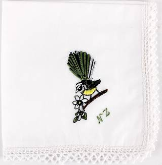 Embroidered lace edged handkerchiefs 'FANTAIL' Style: EHC/FAN Nov delivery