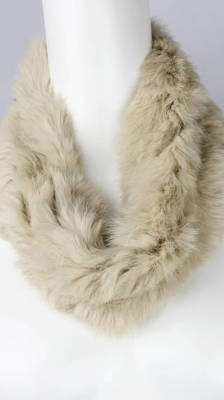 Alice & Lily fur snood plain cream STYLE: SC/4375CRM- NEW SHIPMENT ARRIVING LATE MAY ORDER NOW