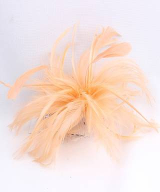 Fascinator feathers on comb Cobolt,Navy,Coral,Silver,Blush. Style: HS/1330