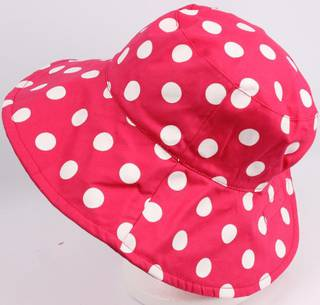 Reversible spotted ponytail hat pink/white Code: HS/5790