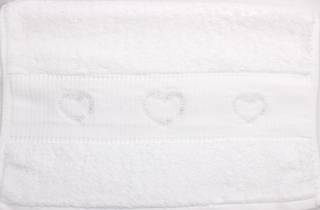 Embroidered cotton hand towel 40x80cm 'Heartsl' Code: HT-HEA Nov delivery