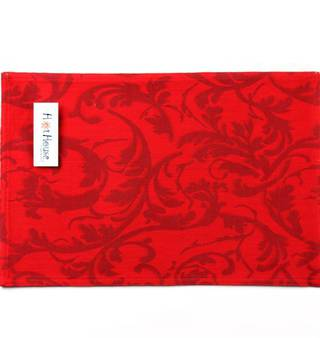 Hot house jacquard placemats scroll red Code: PM/SCR/RED