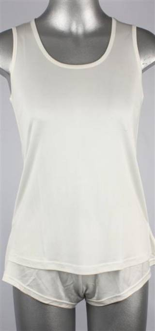Pure silk singlet top camisole natural Code:AL/SILK/2