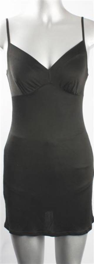 Pure silk lace chemise black Code:AL/SILK/3