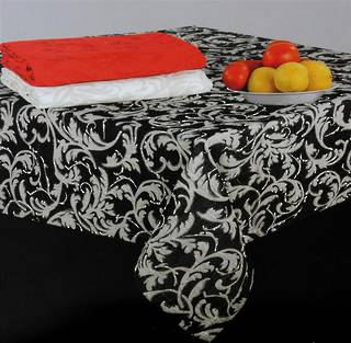 Scroll tablecloth black 150X250CM Code:T/C-SCR/250/BLK