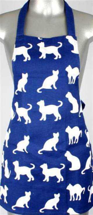 Shadow cats childrens apron royal Code:APR-SH/CAT/CHI/ROY