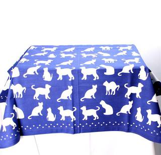 Shadow Cats table throw 100cmx100cm royal Code: T/C-SH/CAT/ROY CLEARANCE