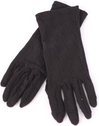 Ladies textured knit glove black S/LK3255