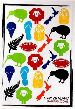 'Famous Icons' tea towels Code:S100/F1