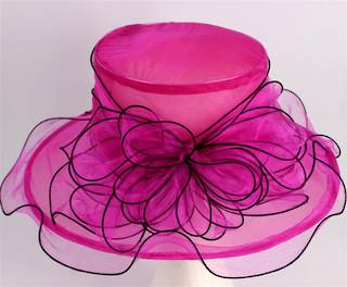 Organza fashion hat rose Code:HS/1219