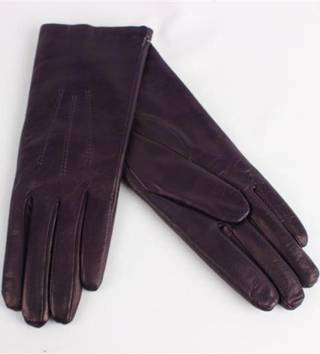 Italian Leather ladies glove with wool lining purple Code-S/LL2362W