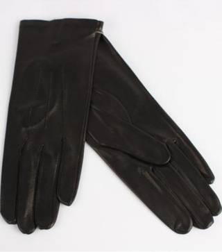 Italian Leather ladies glove with wool lining black Code-S/LL2394W