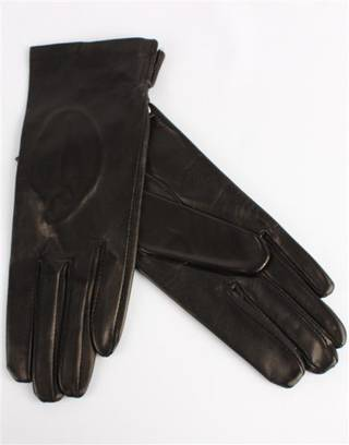 Italian Leather ladies glove unlined black Code-S/LL2394U