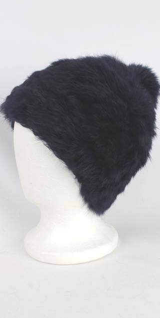 Warm winter fur beanie navy Style: HS4420 NVY