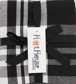 THREE PACK-Tea towel 'Newport' black Code: T/T-NEW/3PK/BLK