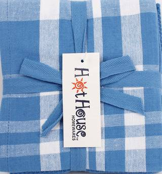 THREE PACK-Tea towel 'Newport' blue Code: T/T-NEW/3PK/BLU