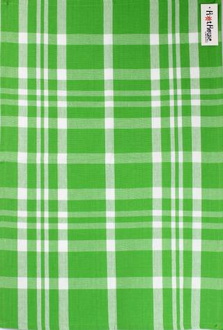 Tea towel 'Newport check' green Code: T/T- NEW/CHK/GRN