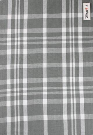 Tea towel 'Newport check' silver Code: T/T- NEW/CHK/SIL