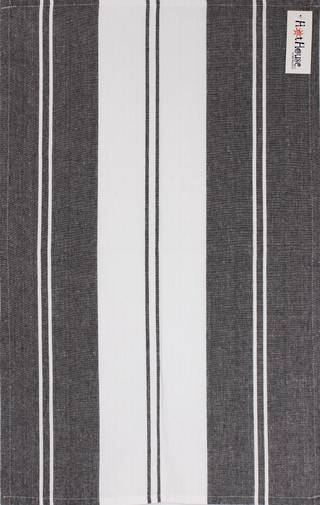 Tea towel 'Newport stripe' black Code: T/T- NEW/STR/BLK
