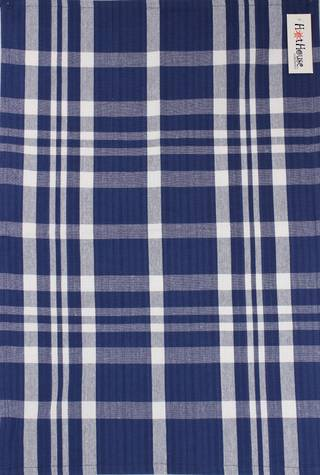 Tea towel 'Newport check' navy Code: T/T- NEW/CHK/NAV